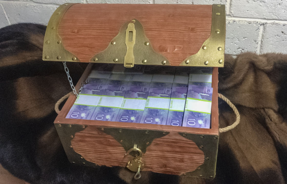 10 Canadian dollars Prop Money Pirate Chest
