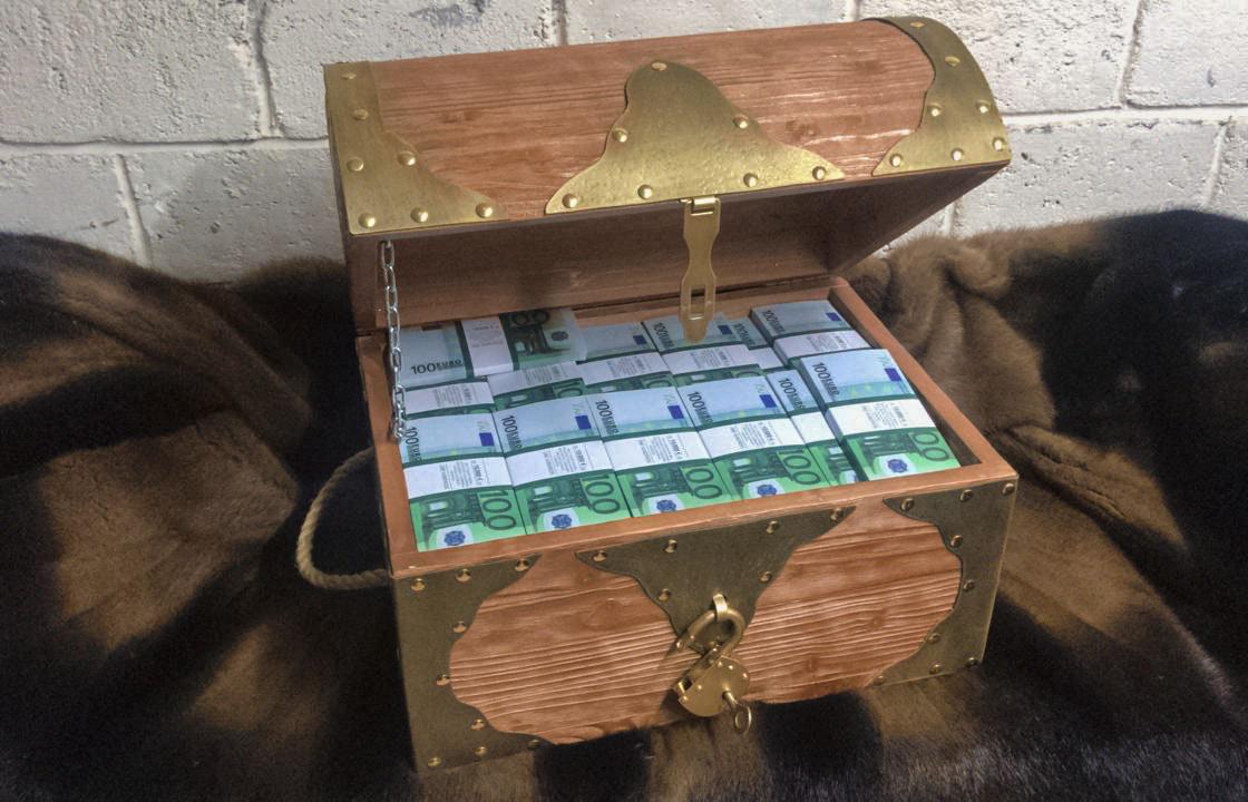 100 euro Prop Money Pirate Chest