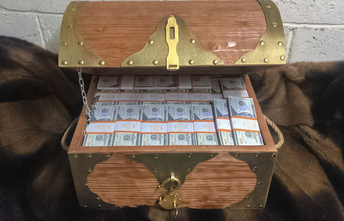 20 American dollars Prop Money Pirate Chest