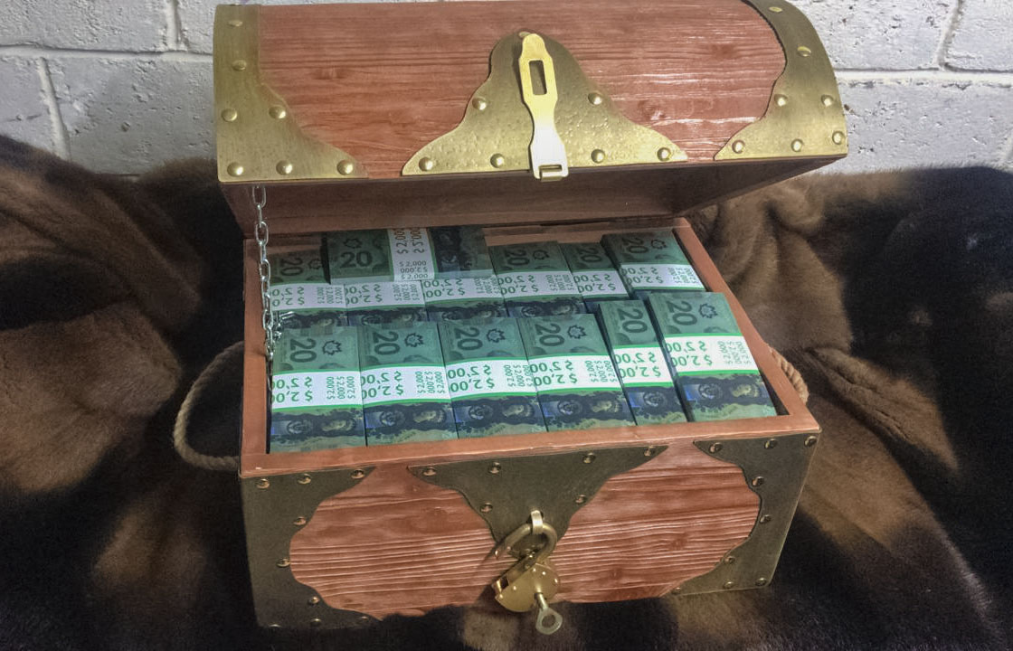 20 Canadian dollars Prop Money Pirate Chest