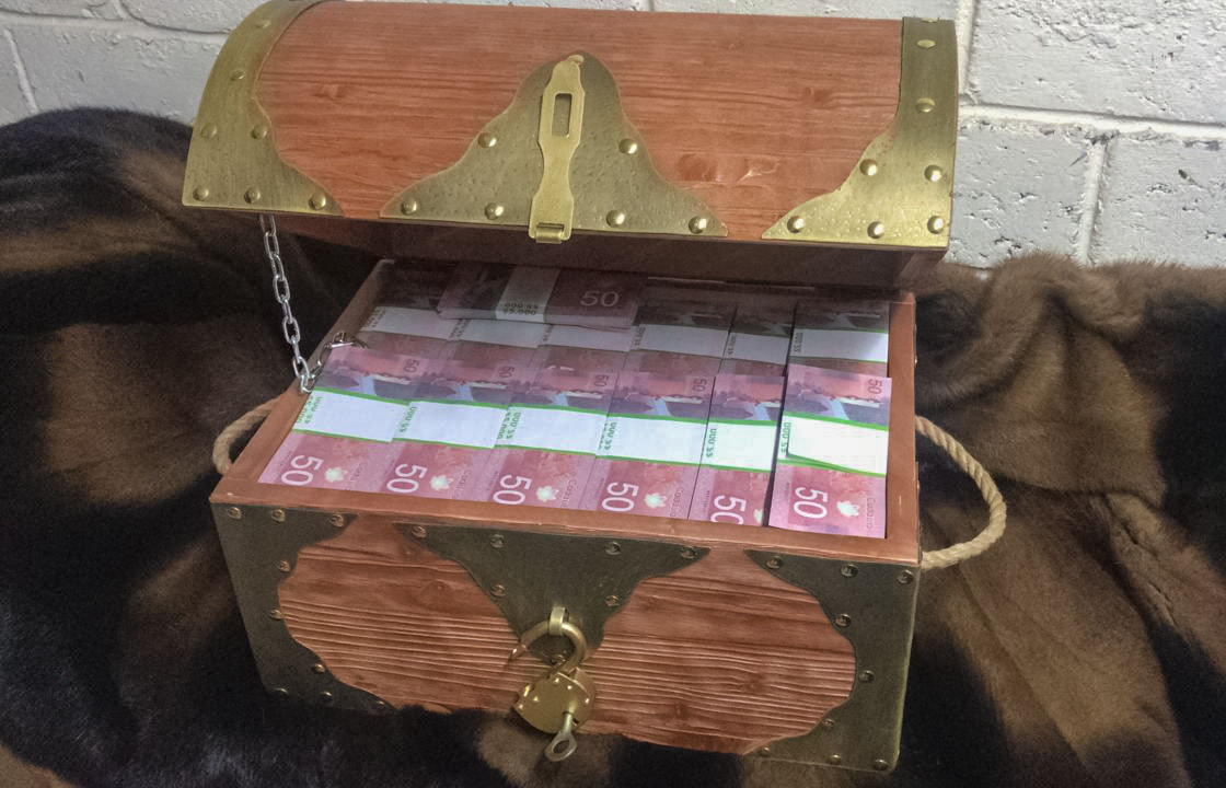NEW 50 Canadian dollars Prop Money Pirate Chest