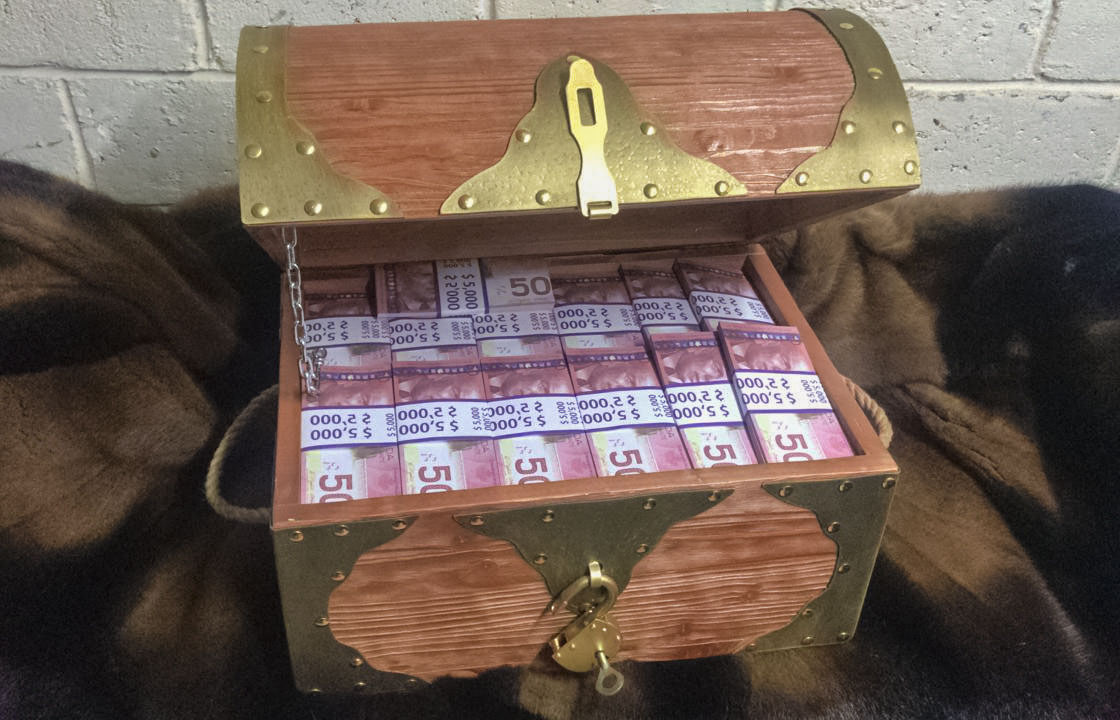 50 Canadian dollars Prop Money Pirate Chest