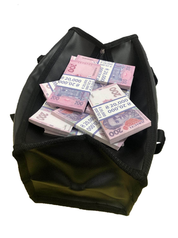 Sac d'argent 200 roubles ukrainiens (50 paquets)