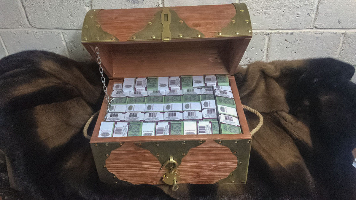 50 USSR rubles Prop Money Pirate Chest