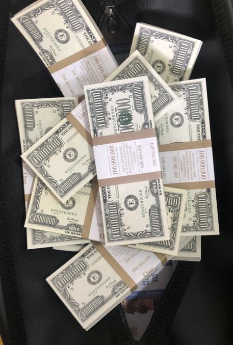 Sac d'argent 1000000 dollars américains (100 paquets)