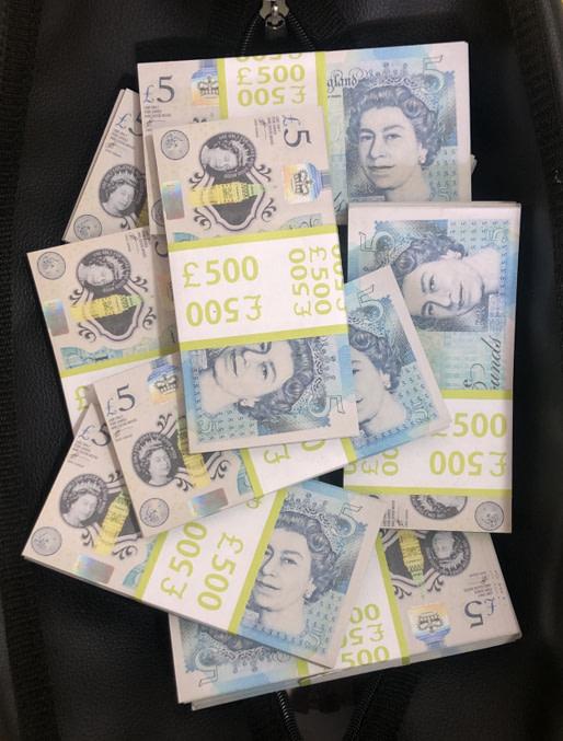 Sac d'argent 5 livres sterling (50 paquets)