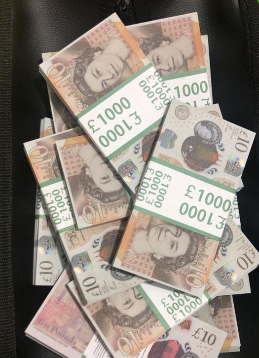 Sac d'argent 10 livres sterling (100 paquets)