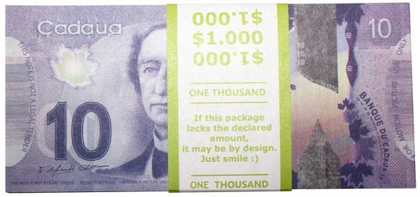 10 dollars canadiens faux billets