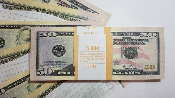 Bloc-notes de faux billets de 50 dollars américains