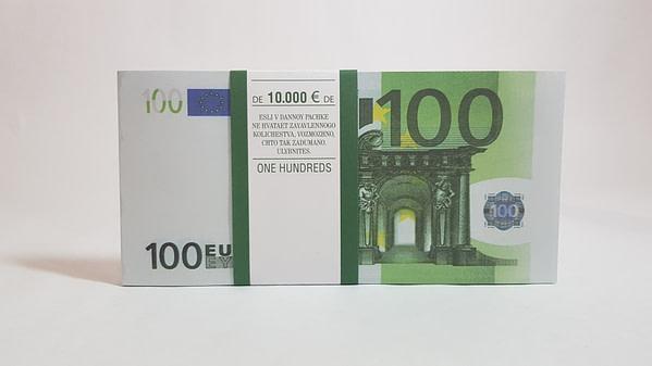 Bloc-notes de faux billets de 100 euros