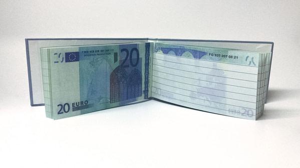 acheter 20 Euro Bloc-notes détachable 1