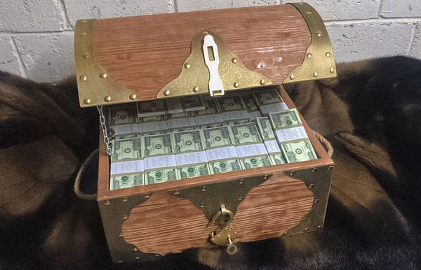 1000000 American dollars Prop Money Pirate Chest