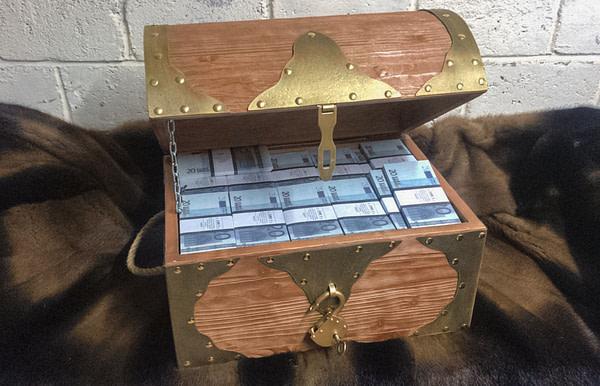 20 British pounds Prop Money Pirate Chest