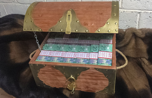 NEW 20 Canadian dollars Prop Money Pirate Chest