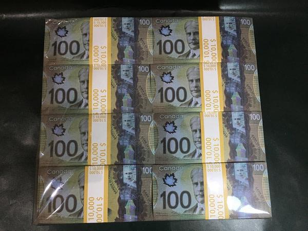 500 packs de faux billets de 100 dollars canadiens