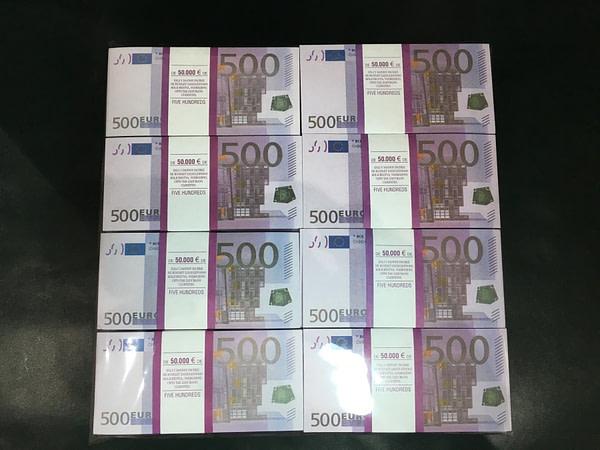 500 packs de faux billets de 500 euros
