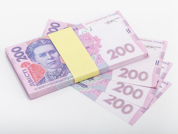 200 hryvnias ukrainiens faux billets
