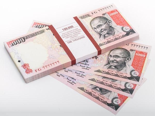 1000 roupies indiennes faux billets