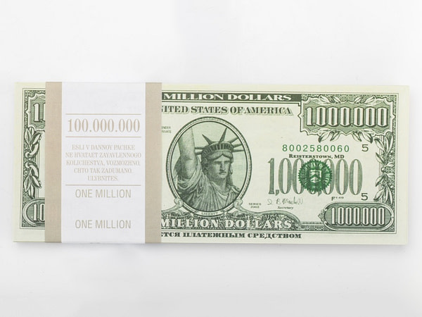 1000000 dollar américain faux billets
