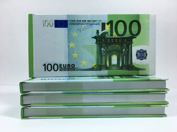 Bloc-notes détachable de 100 euros