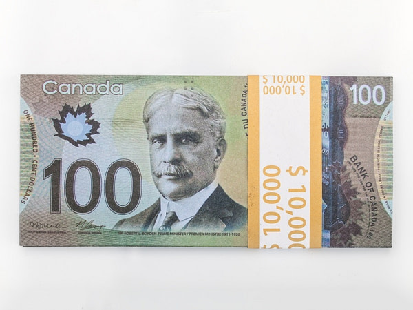 100 dollars canadiens faux billets