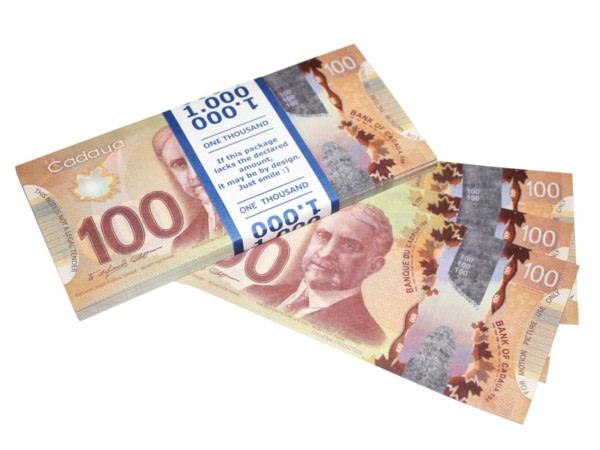 NOUVELLE 100 dollars canadiens faux billets