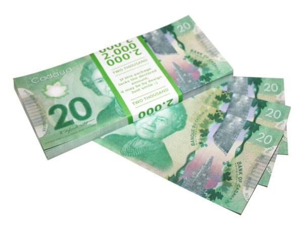 NOUVELLE 20 dollars canadiens faux billets