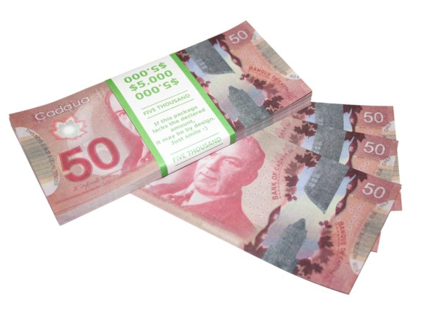 NOUVELLE 50 dollars canadiens faux billets
