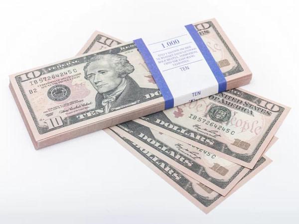 10 dollar américain faux billets