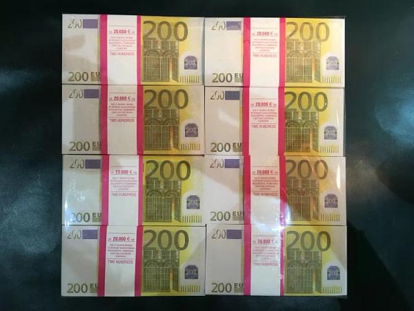 500 packs de faux billets de 200 euros