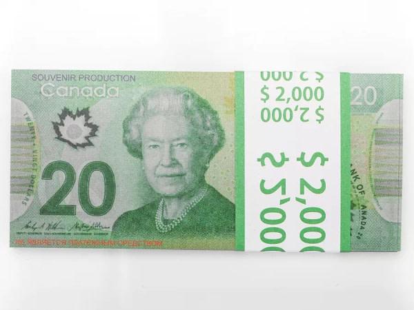 20 dollars canadiens faux billets