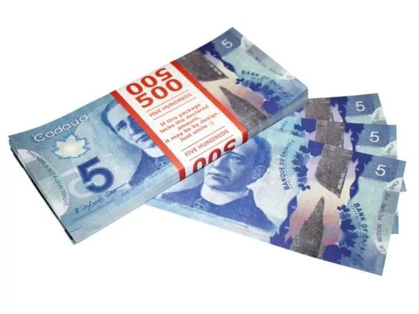 5 dollars canadiens faux billets