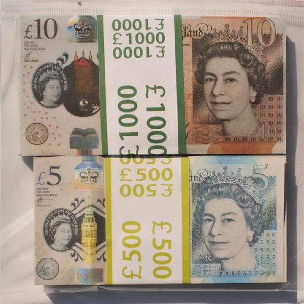 Kit de faux billets Livres britanniques 10, 5