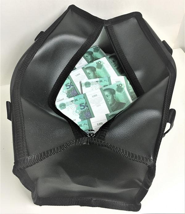 Sac d'argent 50 yuans de renminbi (100 paquets)