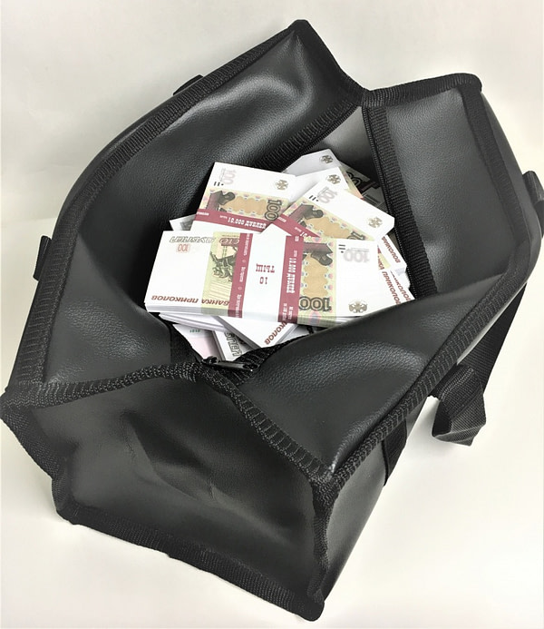 Sac d'argent 100 roubles russes (100 paquets)