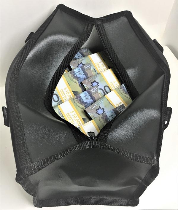 Sac d'argent 100 dollars canadiens (50 paquets)
