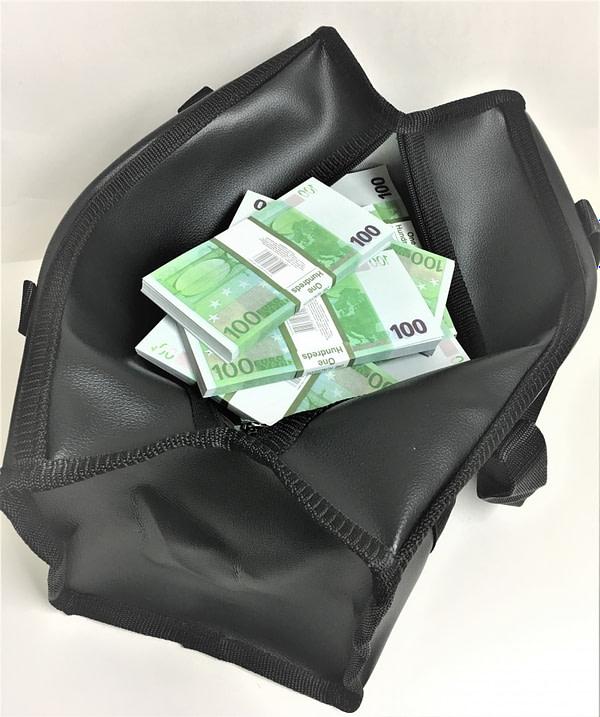 Sac d'argent 100 euros (100 paquets)