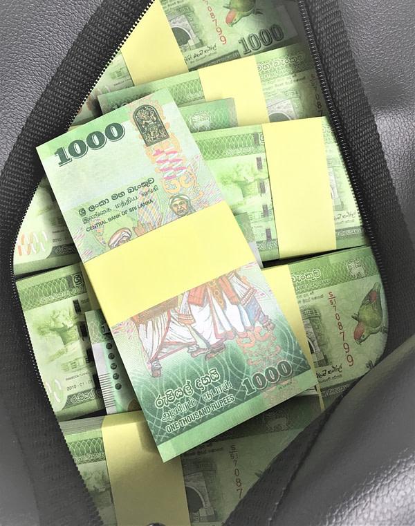 Sac d'argent 1000 roupies du Sri Lanka (50 paquets)