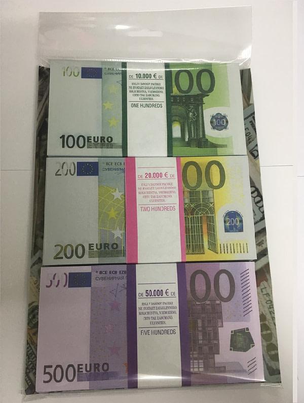 Kit de faux billets 100, 200, 500 euros