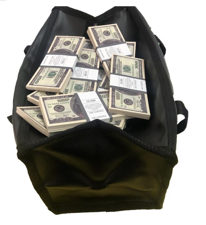 Sac d'argent 100 dollars américains (100 paquets)