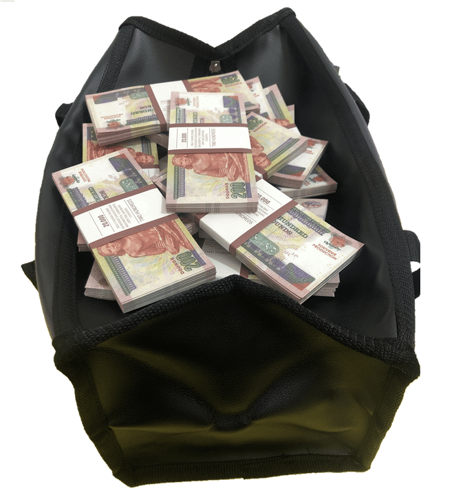 Sac d'argent 200 livres égyptiennes (100 paquets)