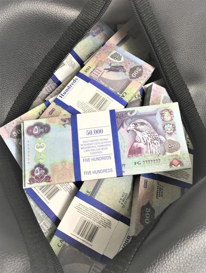 Sac d'argent 500 dirhams des Émirats arabes unis (50 paquets)