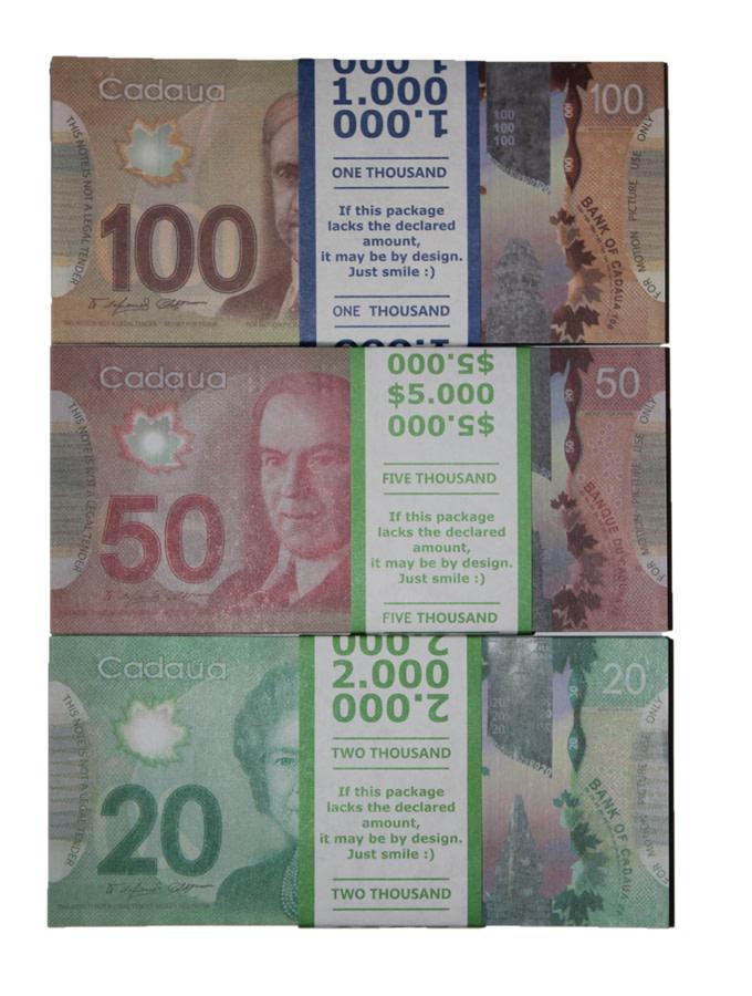 Kit de faux billets dollars Dollars canadiens 20, 50, 100