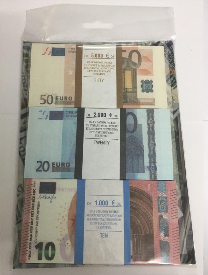 Kit de faux billets 10, 20, 50 euros