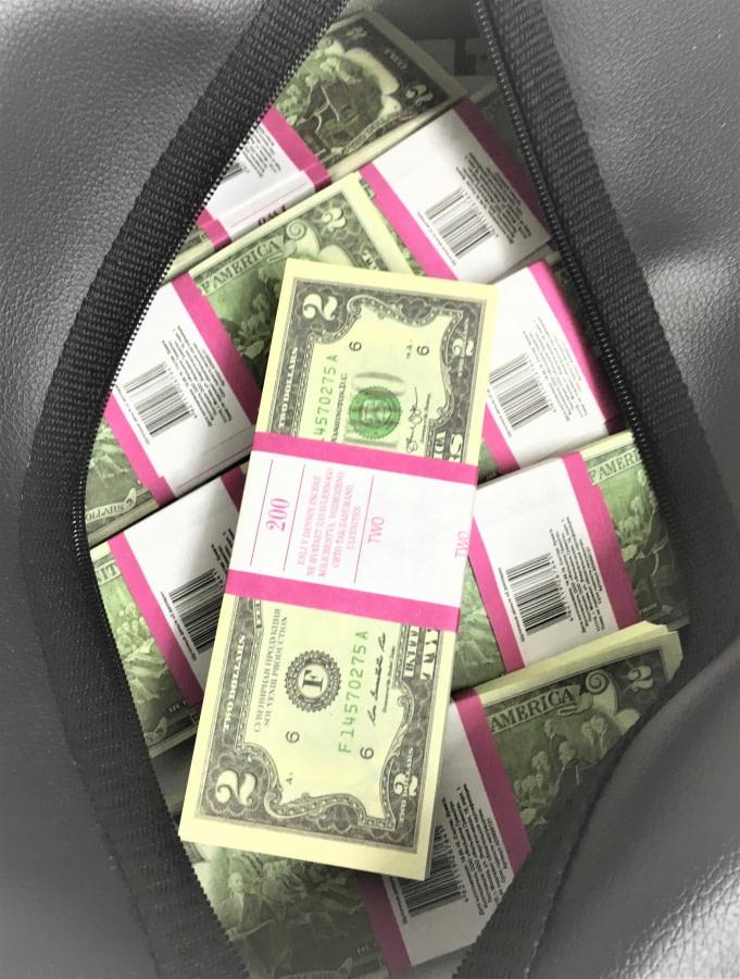 Sac d'argent 2 dollars américains (50 paquets)