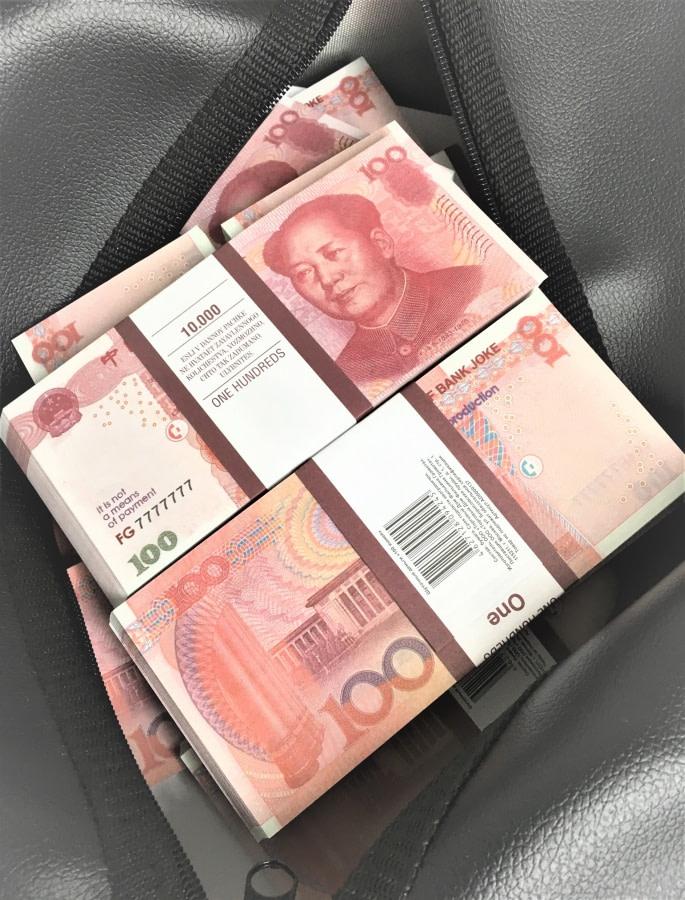 Sac d'argent 100 yuans de renminbi (100 paquets)