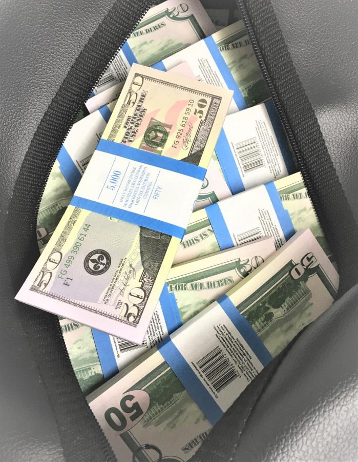 Sac d'argent 50 dollars américains (50 paquets)