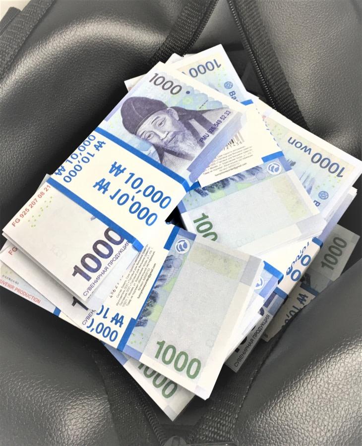 Sac d'argent 1000 won coréens (100 paquets)