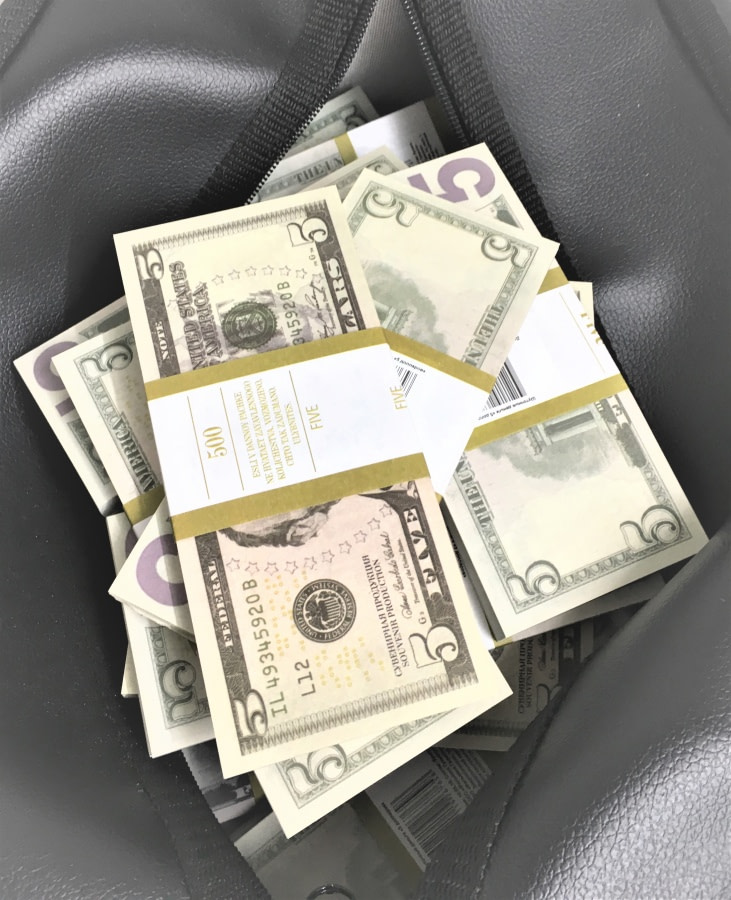Sac d'argent 5 dollars américains (50 paquets)