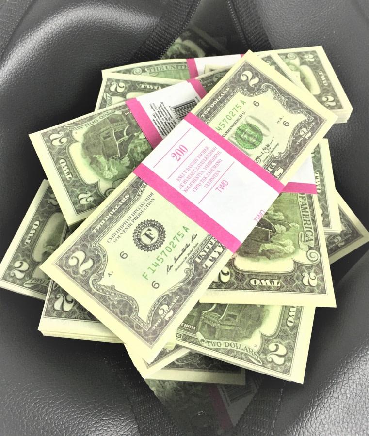 Sac d'argent 2 dollars américains (100 paquets)